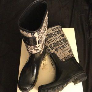 Coach rain-boots!